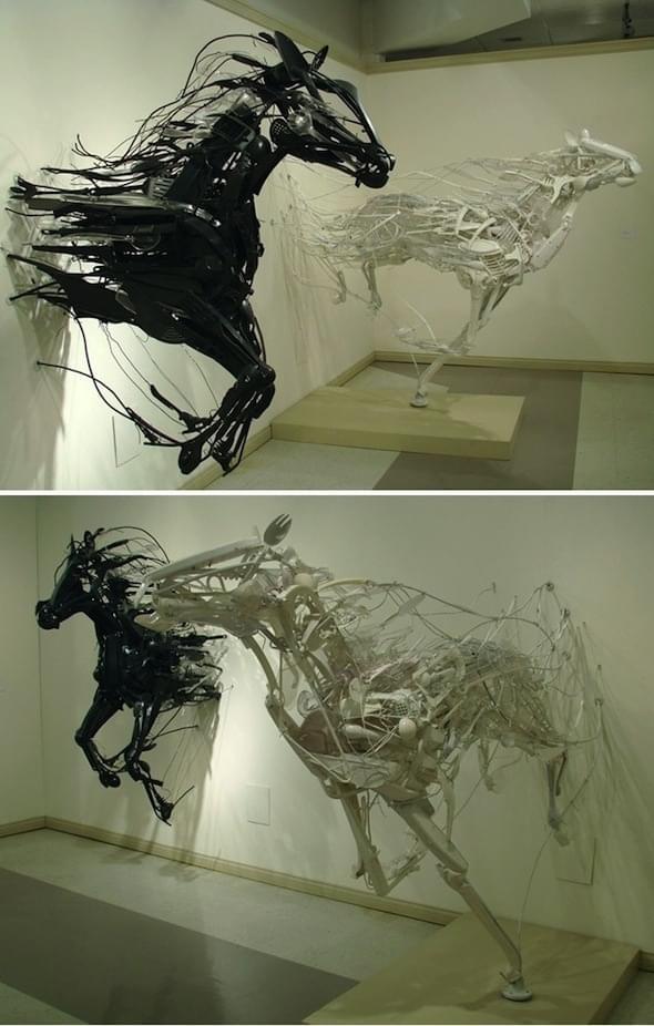 Some amazing sculptures from artist Sayaka Kajita Ganz