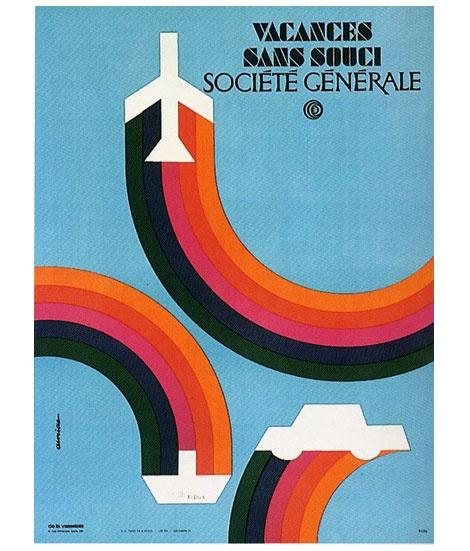 Société Générale vintage travel  ad