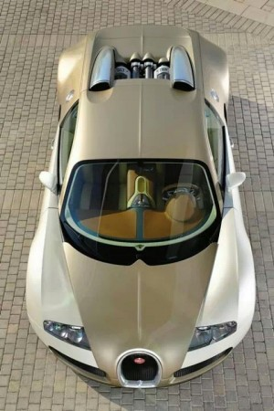 Bugatti Veyron from above
