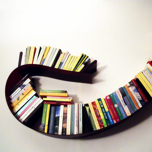 Kartell Bookworm Shelf by Ron Arad