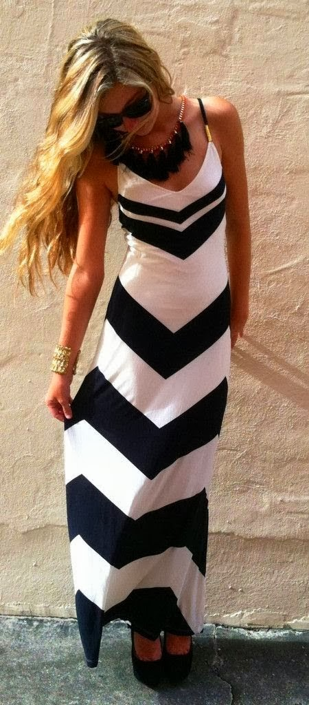 Amazing Black & White Sleeveless Maxi Dress for Stylish Women World of Women Fashion