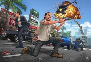 GTA V – Launch piece