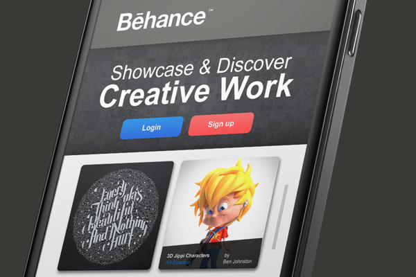 Behance Network android app re-design on Behance