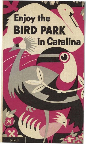 Brochure for the bird park on Catalina Island. Cool illustration.