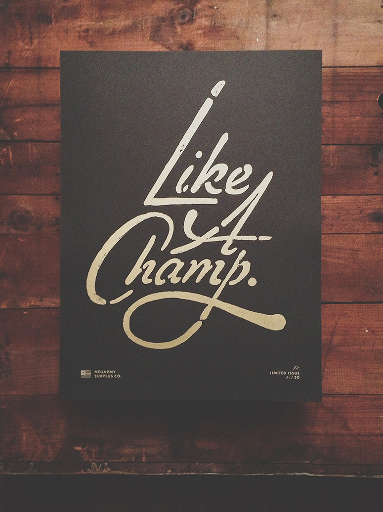 FPO: Like a Champ Poster