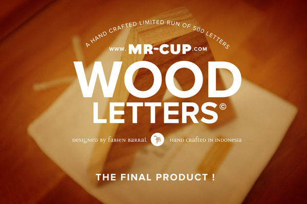HELVETICA Wood Letters