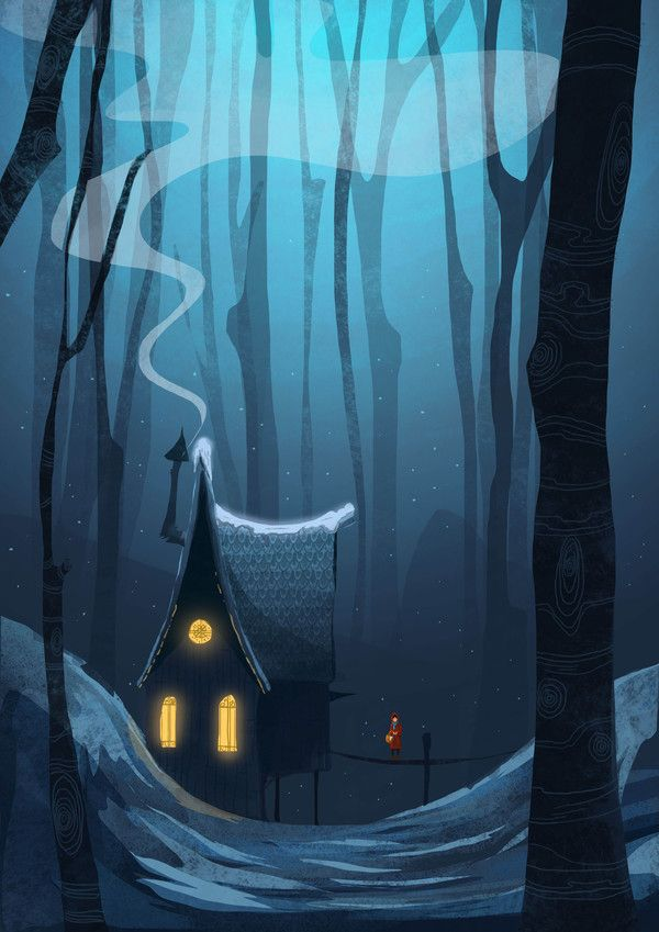House in the woods, Illustrations by Mustafa Gündem