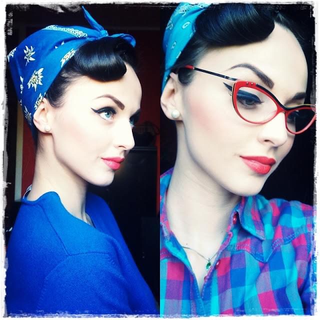 Idda van Munster: Rosie the Riveter hairstyle: We Can Blog It!