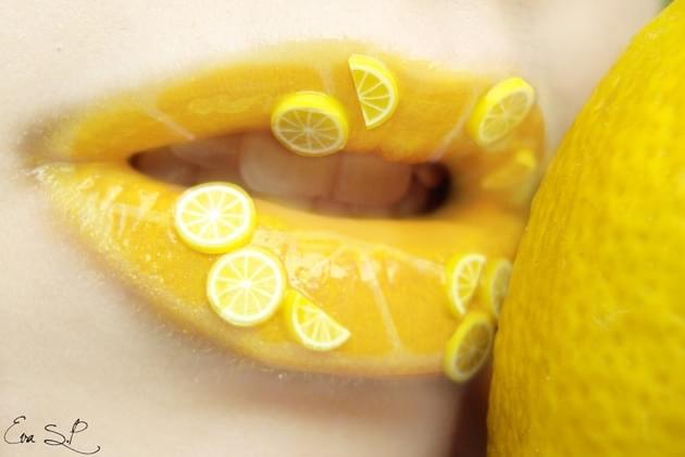 Lemon Lip Art