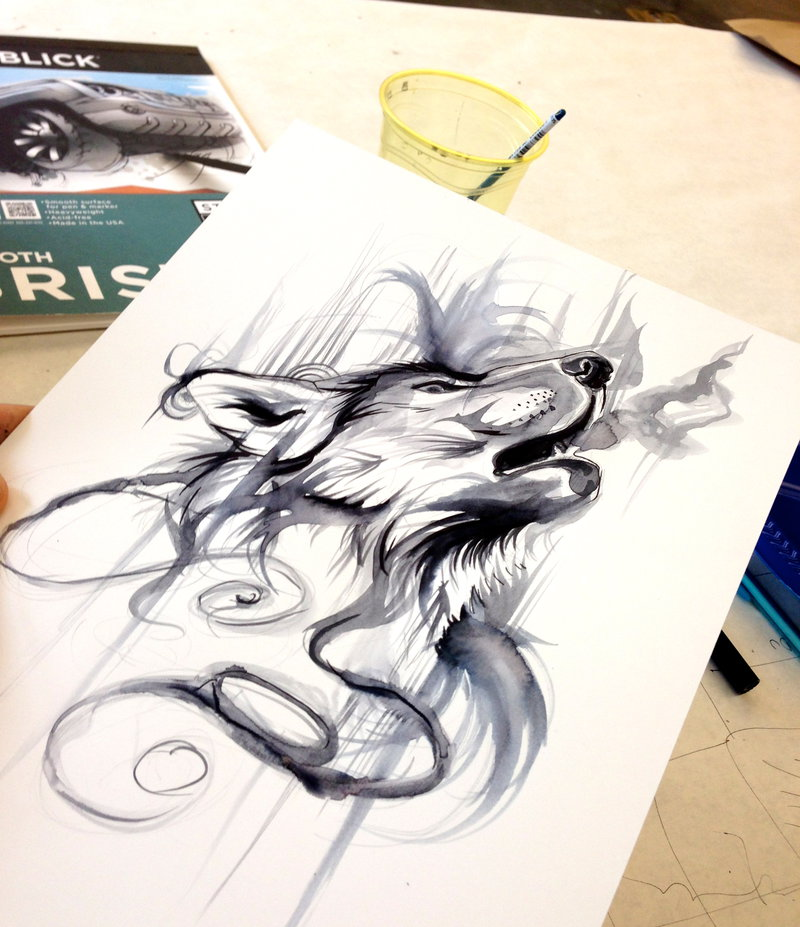 Ink Wash by Lucky978 on deviantART