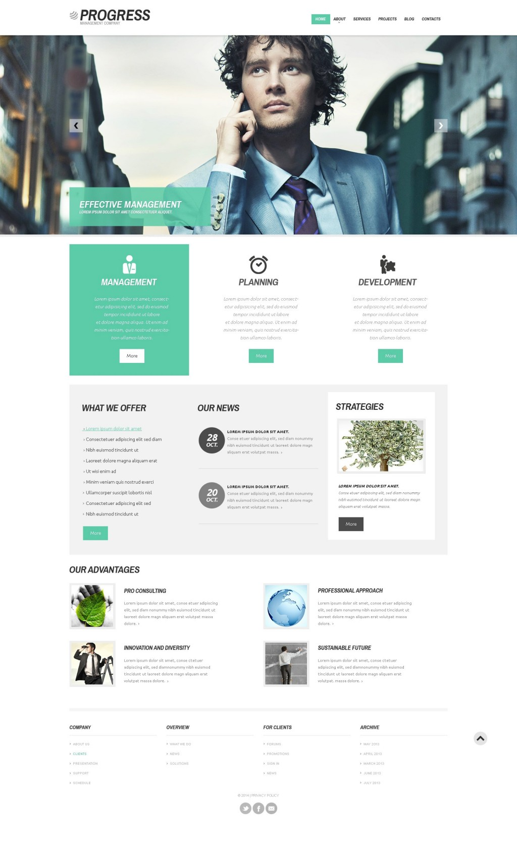 Progress Business #wordpress theme