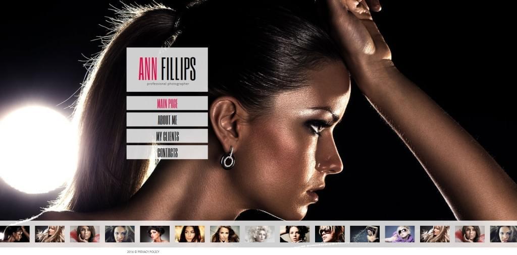 'Ann Filips' Photo Gallery 3.0 for MotoCMS Theme 48215