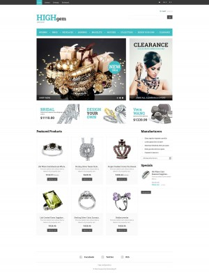 'Highgem Jewelry' PrestaShop Template 48270