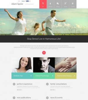 'Adam Spoke' Stretched Flash CMS Template