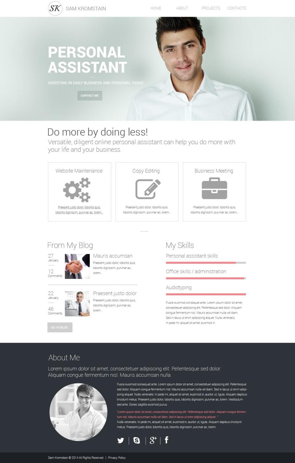 Responsive Design Template / Reaktionsfähige Vorlage 48321