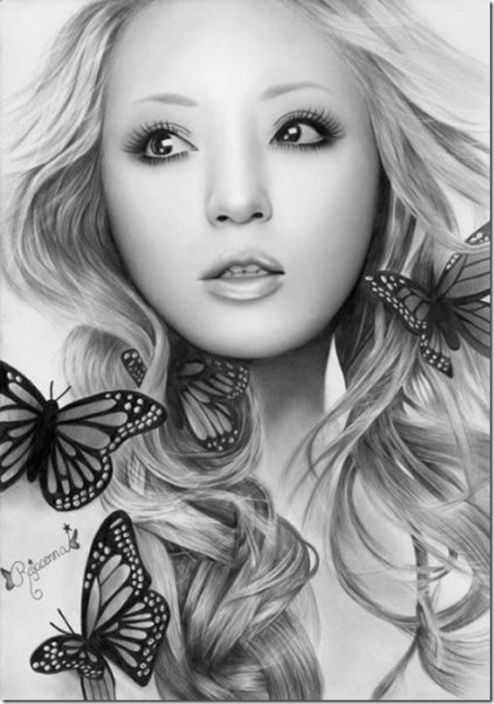 Pencil Drawing Portrait by Rajacenna