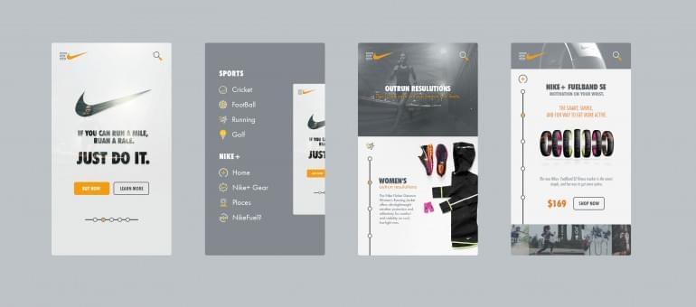 Nike – App design!