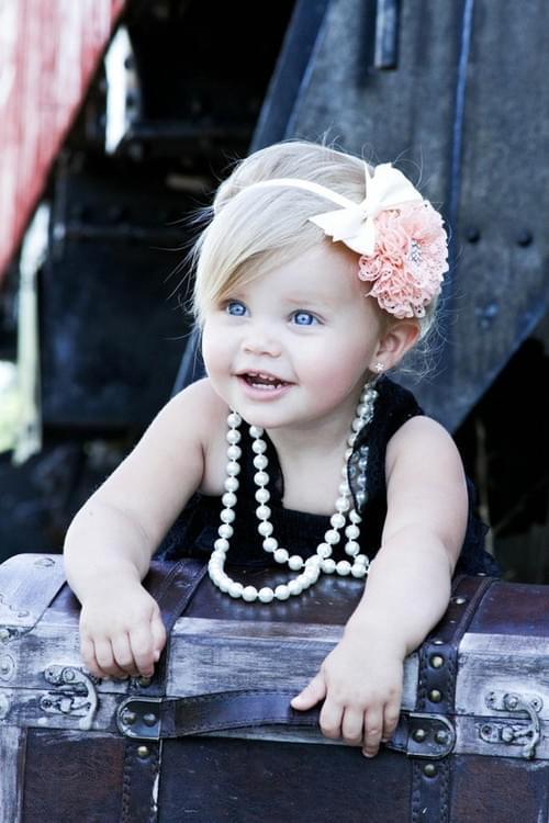 Adorable Baby Girl has beautiful Eyes
