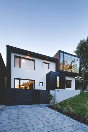 The Black and White Connaught Residence in Montreal