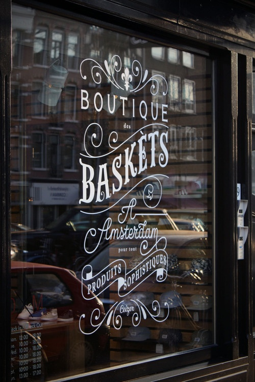 Window Signage | Amsterdam | Stores | Interiors + Signage