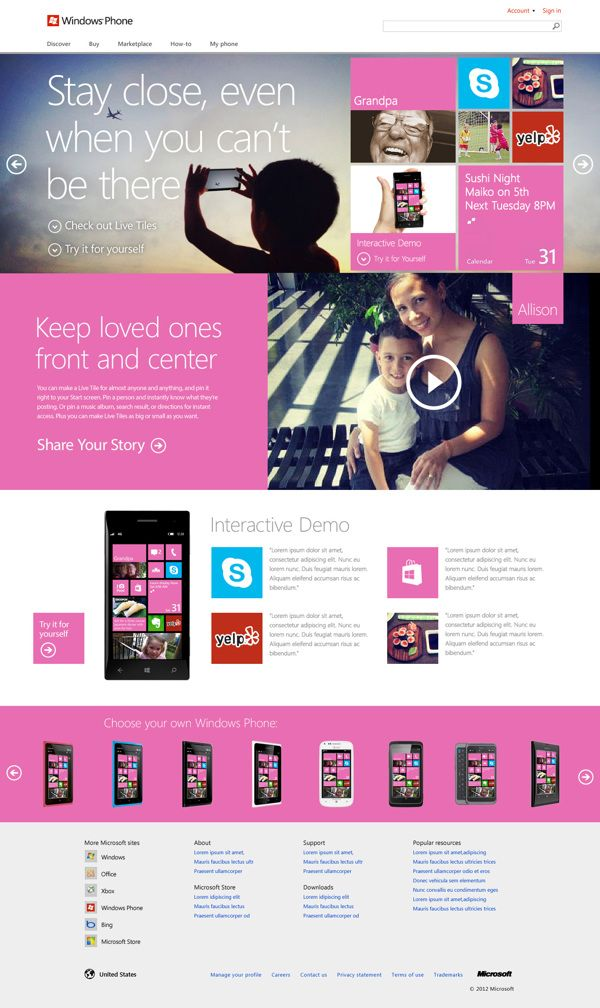 Windows Phone 8 by Erik Schutzman, via Behance