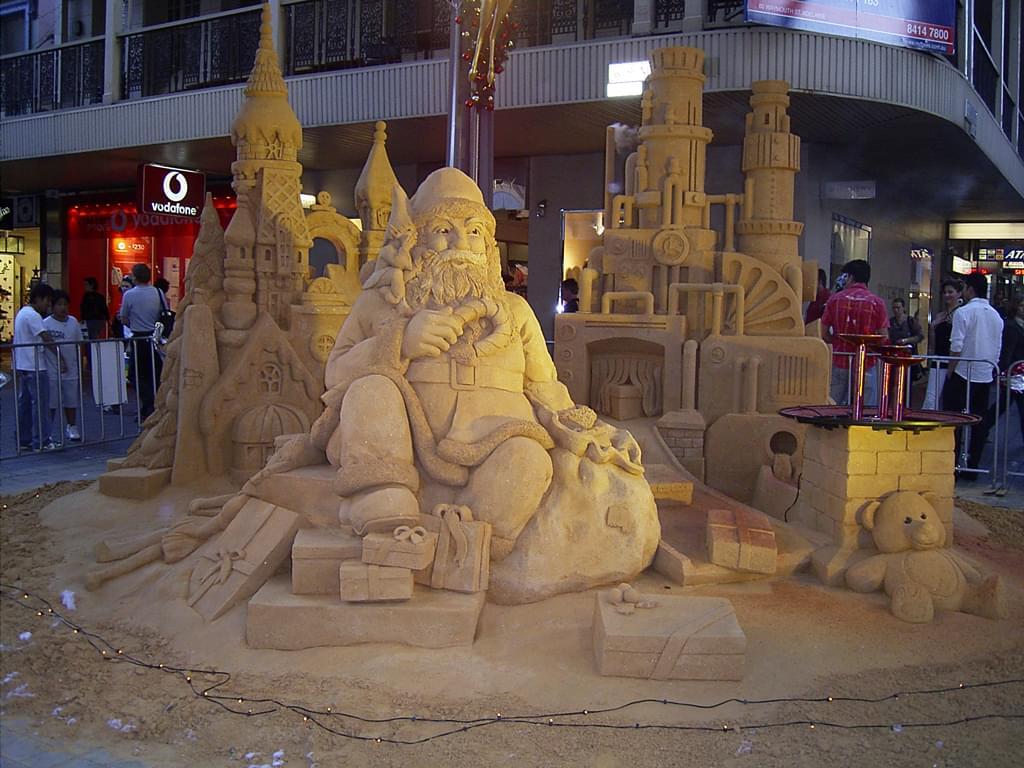 Xmas Sand Sculpture