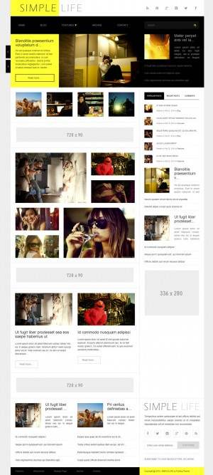 yellow, contrast grid, magazine, adsense
