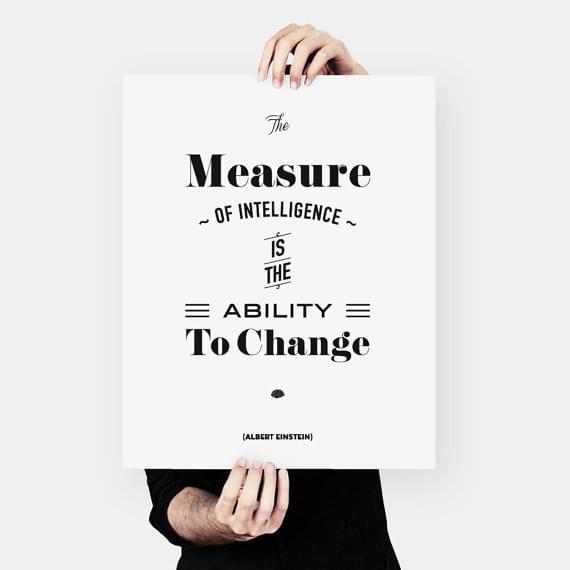 Albert Einstein Quote words of wisdom Typography by MessProject