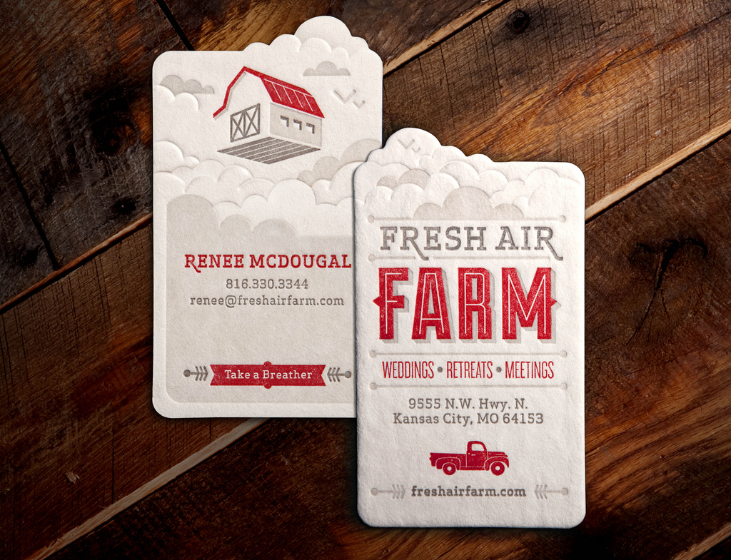Fresh Air Farm Business Card by Whiskey Design on Inspirationde