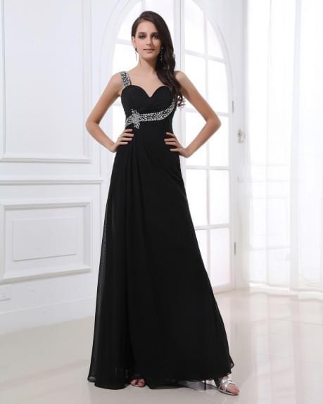 Beading Straps Sweetheart Floor Length Evening Dress | WeddingDressBee