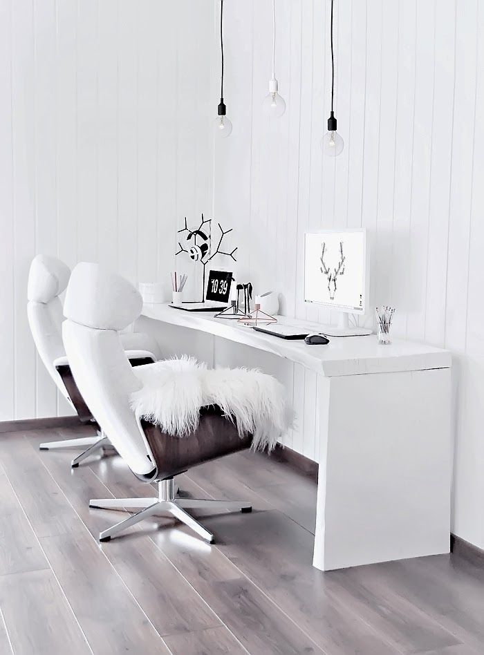 = desk chairs and furs = workspace – home office