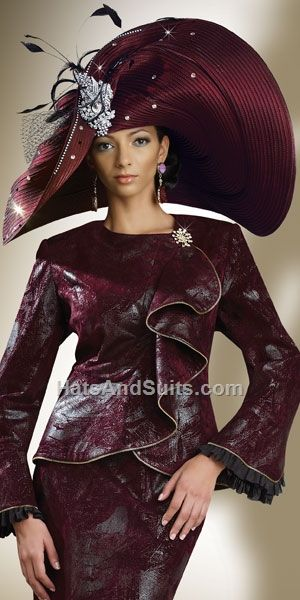 DonnaVinci Couture HATS Style H1380 | Church Lady Hats | Pinterest