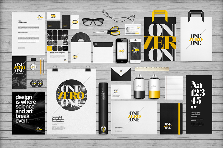 EAMEJIA | Premium and free graphic design resources |   Flat Identity / Branding Mock-up