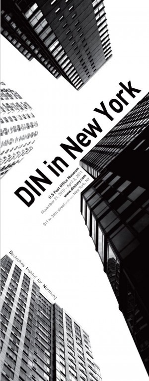 DIN in New York – exhibition poster