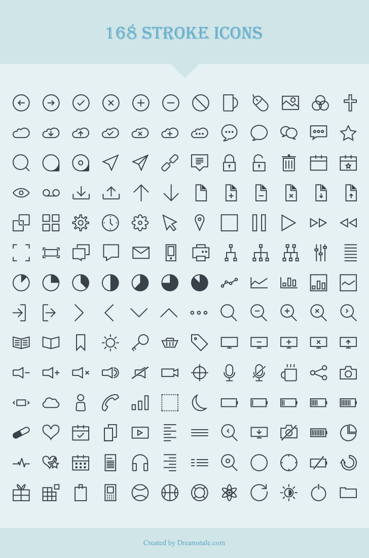168 Free Vector Stroke Icons