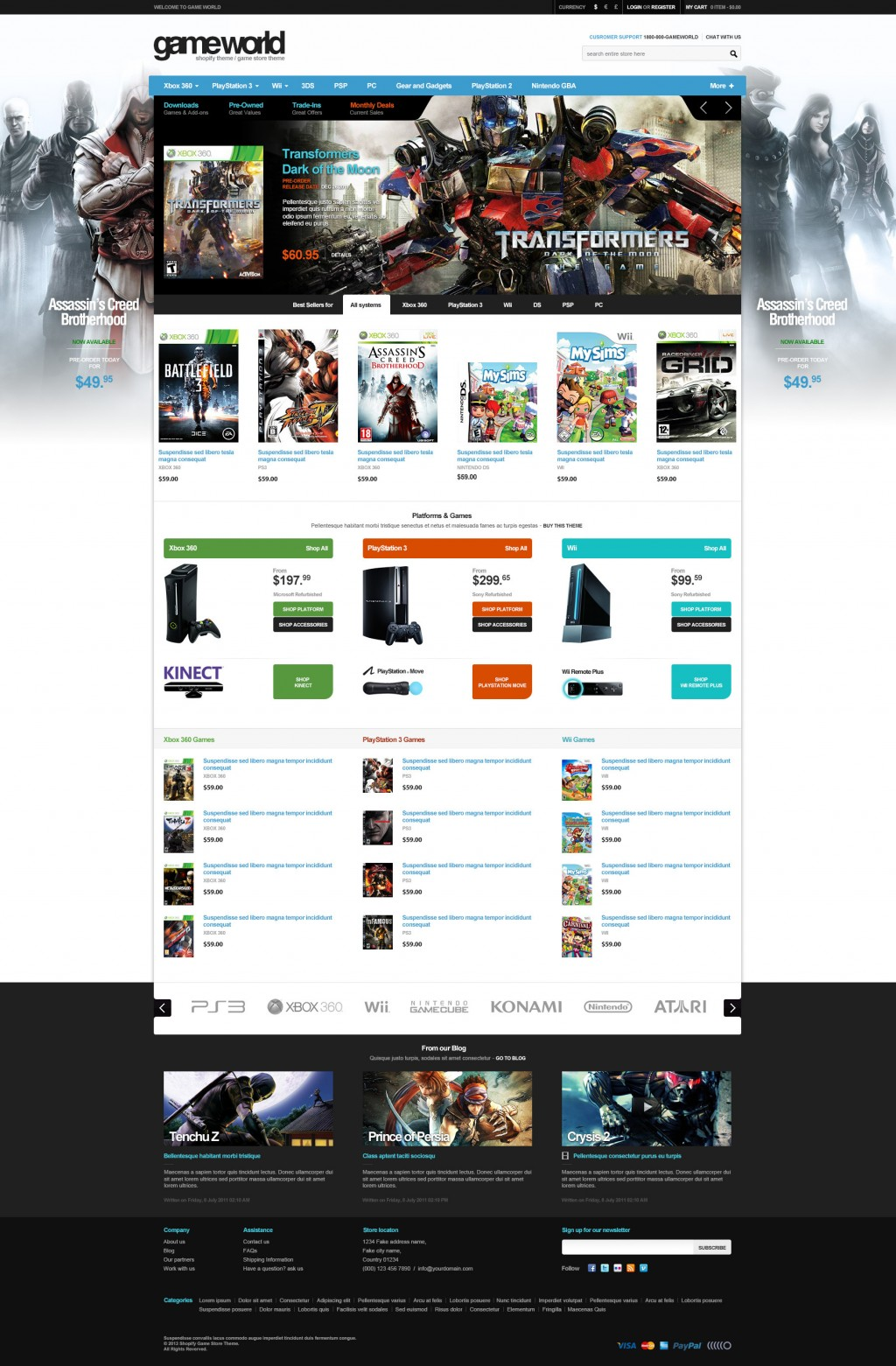 Game Store Shopify Theme – GameWorld