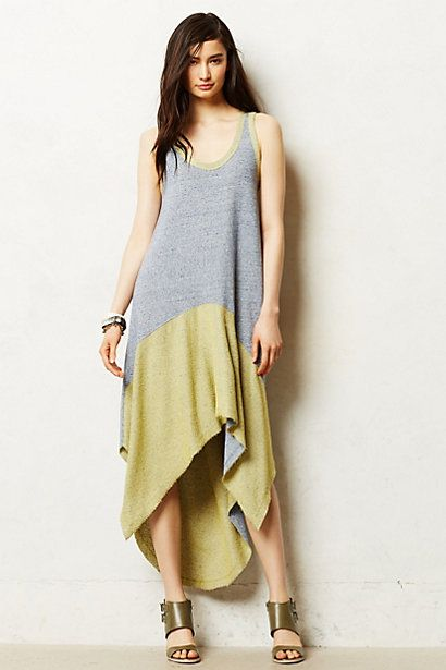 High-Low Terry Dress