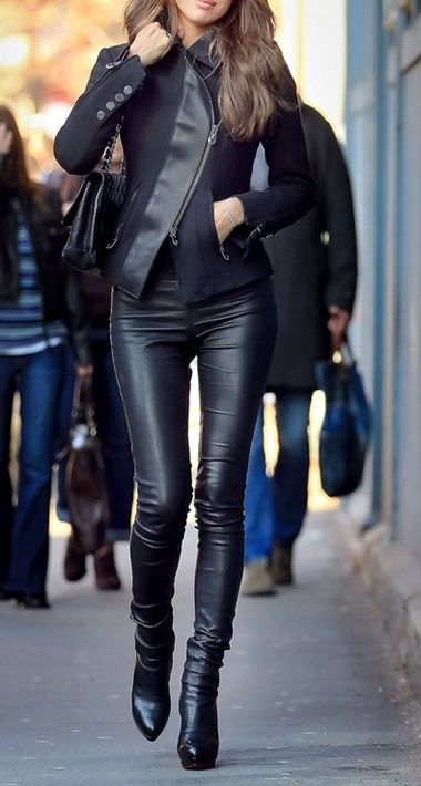 Leather | my style… if I had the time and money | Pinterest