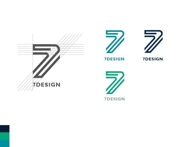 7DESIGN logo design