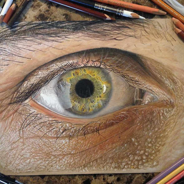 hyper-realistic pencil drawings
