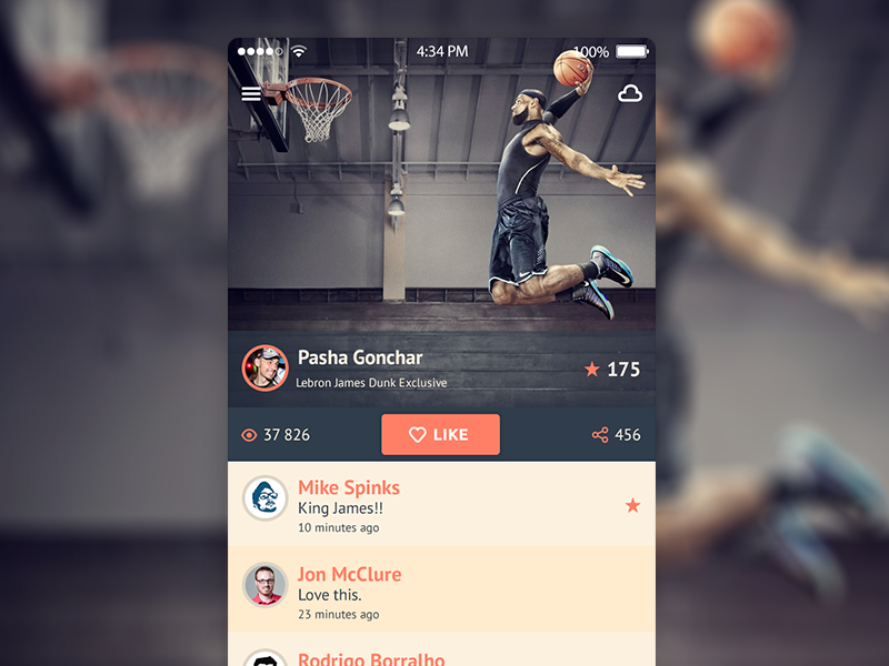 Mobile Design Inspiration – iOS 7 iPhone app UI design