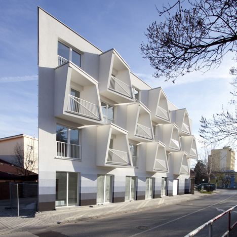 North Star Apartments by Nice Architects features angular balconies