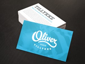 Oliver Greetings card