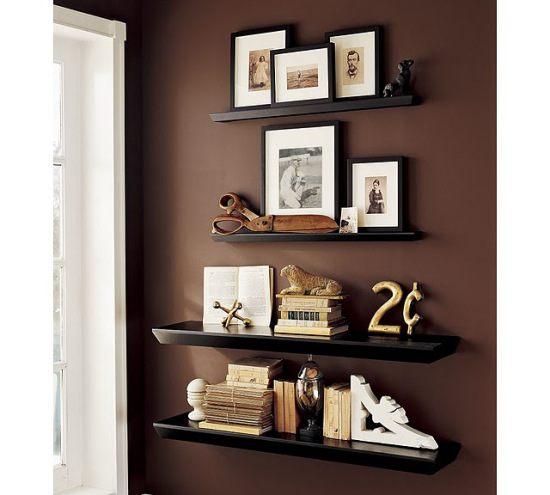Organizing and decorating with shelves