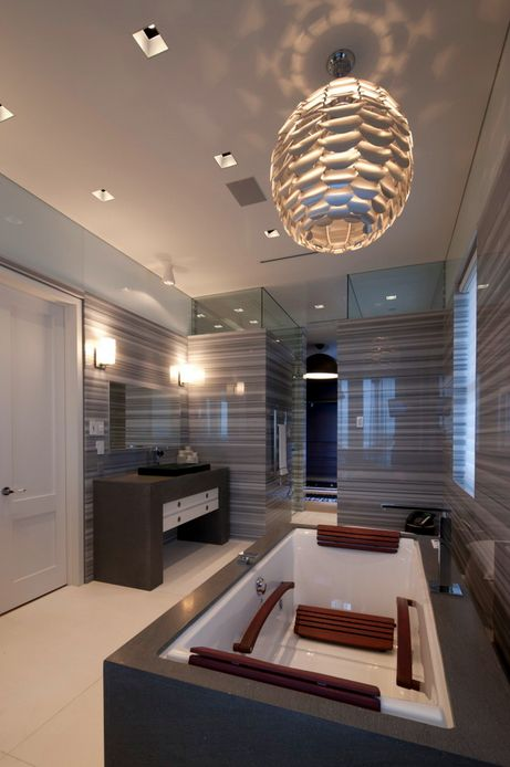 Modern #Bathroom by David De La Garza / ZURDODGS with a #BainUltra Tekura air #tub with geysair  ...