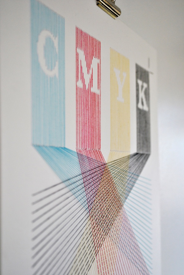 typography and stitch [and process colors!] artist: Peter Crawley