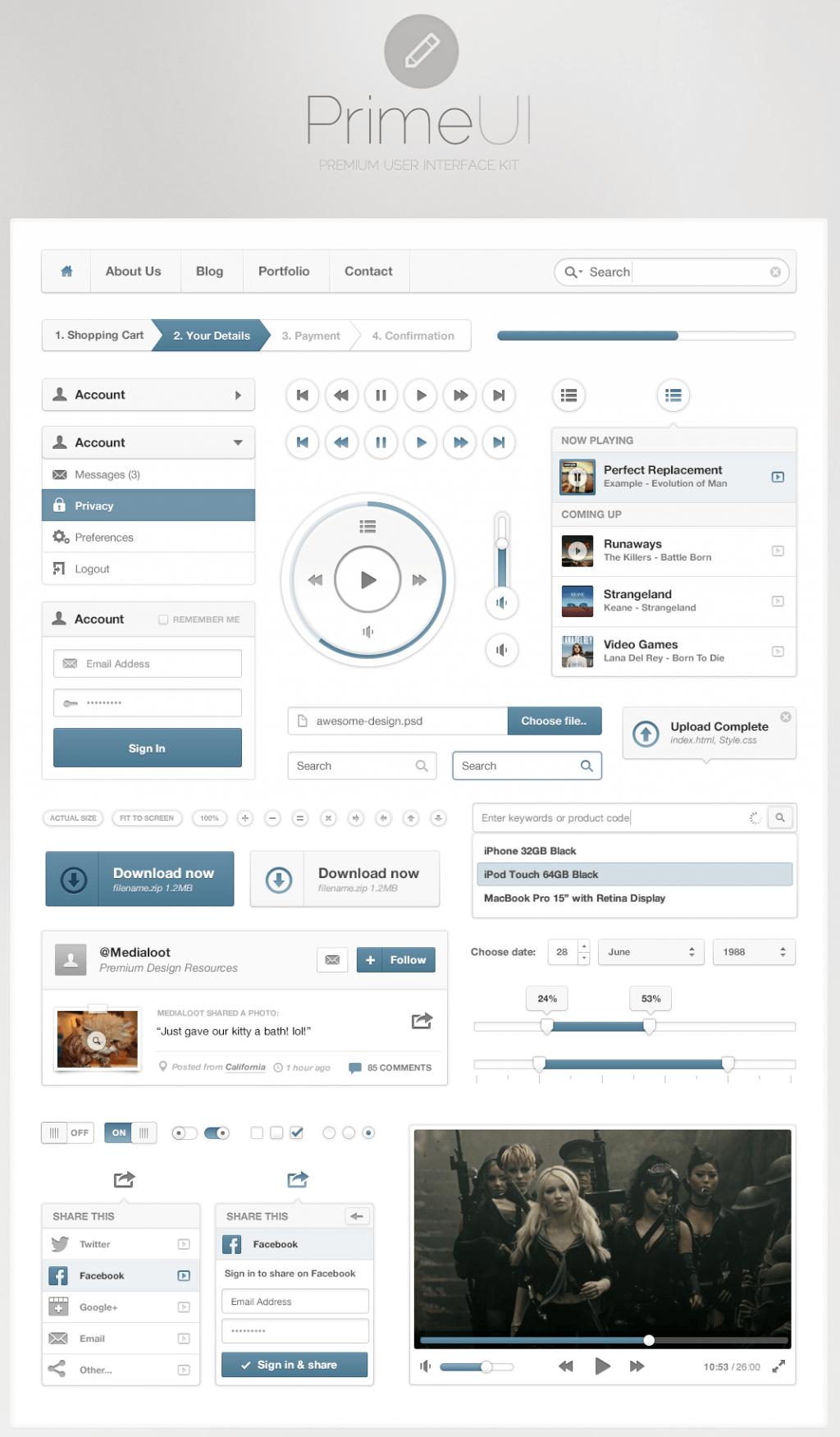 PrimeUI – User Interface Kit
