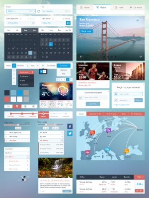 Ui Kit for Airline