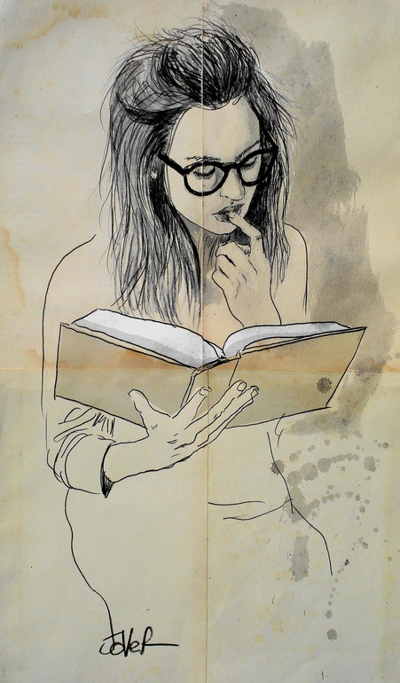 "Saatchi Art Artist: Loui Jover; Pen and Ink 2013 Drawing ""book"""