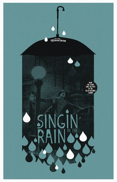 Singin' In The Rain 11×17 inch poster by TheArtOfAdamJuresko